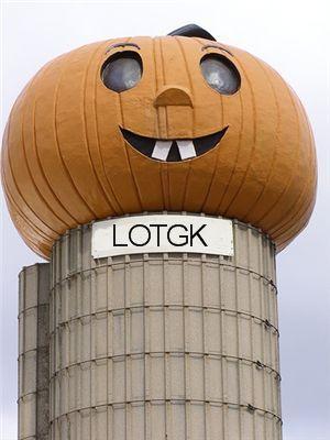 giant alien halloween pumpkin