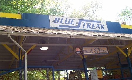 blue streak roller coaster conneaut
