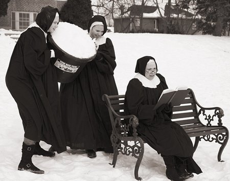 nuns having fun