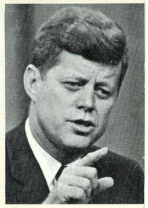 president kennedy pointing