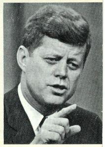 president kennedy pointing