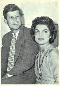 President Kennedy and Jackie engagement photo.