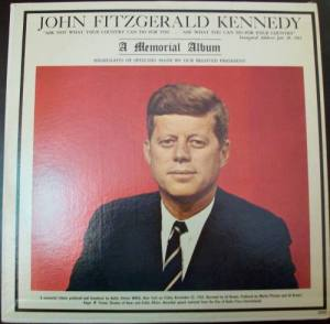 john fitzgerald kennedy memorial record album from november 22 1963.